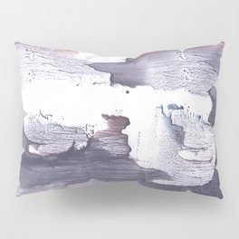 Dark slate gray abstract watercolor Pillow Sham