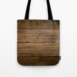 Dark brown wood texture with natural striped pattern for background - wooden surface Tote Bag
