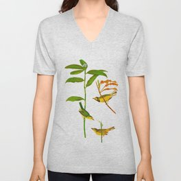 Hooded Warbler Bird Unisex V-Neck