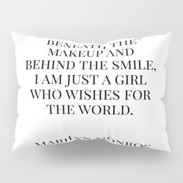 Marilyn Quote Pillow Sham