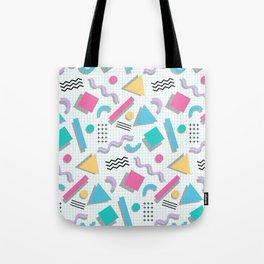 Memphis Shapes Tote Bag