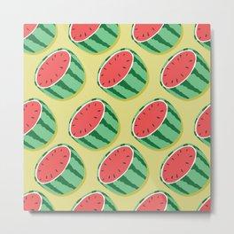 Watermelon pattern 02 Metal Print