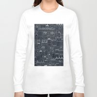 rubyetc Long Sleeve T-shirts featuring city at night by rubyetc