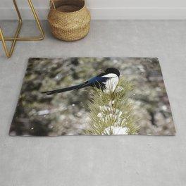 Black-billed Magpie Rug