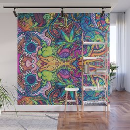 Trippy Weed Wall Mural