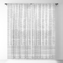 Digital Stitches detail 1 white Sheer Curtain