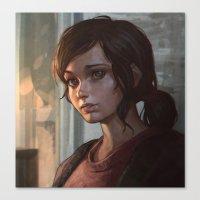 ellie goulding Canvas Prints featuring Ellie by Ilya Kuvshinov