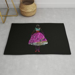 Audrey Pink Glitter Dress Rug