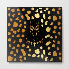 Gold Panther Heroes Metal Print