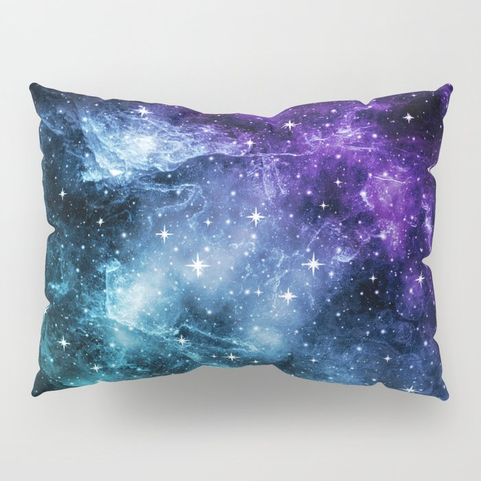 Purple Teal Galaxy Nebula Dream #1 #decor #art #society6 Pillow Sham