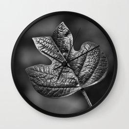 Tulip Poplar Leaf Wall Clock