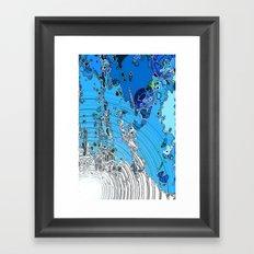 Seeping Colour  Framed Art Print