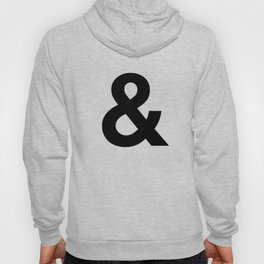 Ampersand black and white monochrome Helvetica typography poster design home wall bedroom decor Hoody
