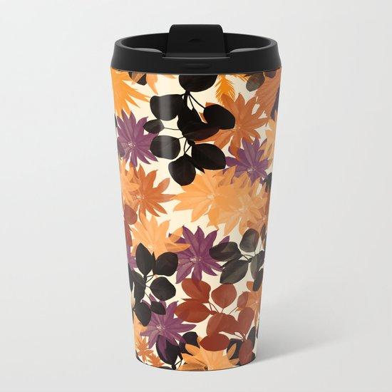 Floral 1 Metal Travel Mug