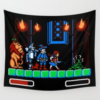 oz Wall Tapestries featuring 8-Bit Oz by Meteo Designs