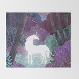 The Last Unicorn Throw Blanket