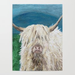 A Sweet Shaggy Highland Coo Poster