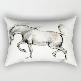 arabian horse in movement Rectangular Pillow