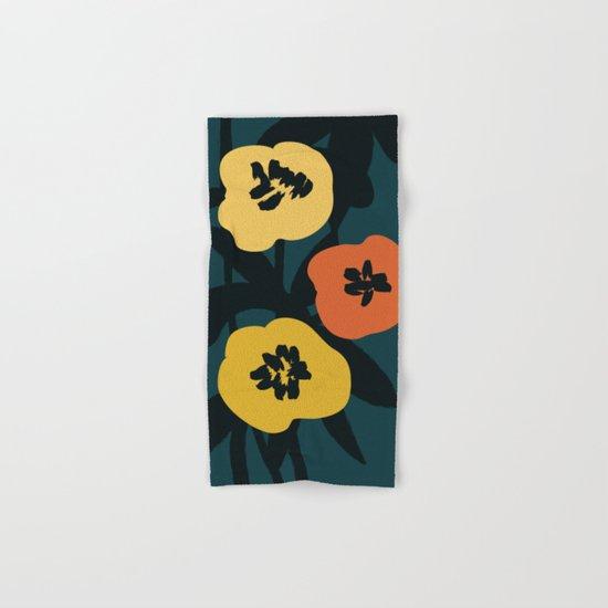 Midnight Flowers Hand & Bath Towel