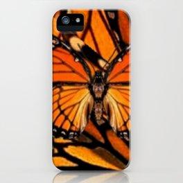 ORANGE MONARCH BUTTERFLY PATTERNED ARTWORK iPhone Case