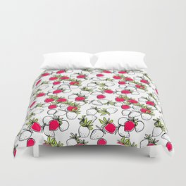Plan strawberries Duvet Cover
