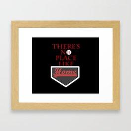 There's no place like home (baseball theme) Framed Art Print