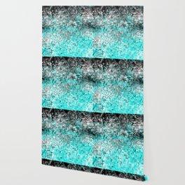 Aqua Gray Pixels Wallpaper