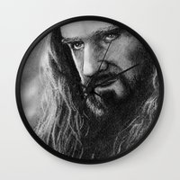 thorin Wall Clocks featuring Thorin by AnastasiumArt