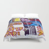 supergirl Duvet Covers featuring I Need a Supergirl by Ibbanez