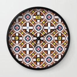 Wooden Criss-Cross Screen Pattern Wall Clock