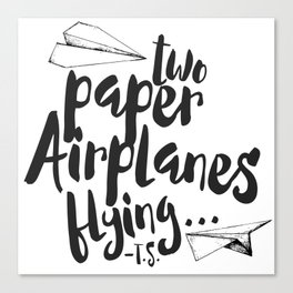 Paper Airplanes Canvas Print