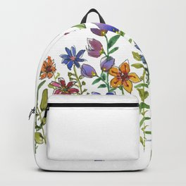 A colorful flower garden Backpack