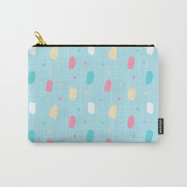 Pastel blue white pink ivory stars brushstrokes Carry-All Pouch