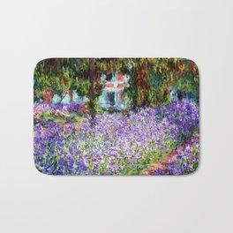 "Claude Monet ""Irises in Monet's Garden at Giverny"", 1900 Bath Mat"