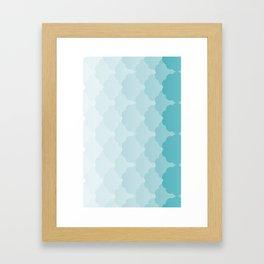 Pattern Gradient Green Framed Art Print