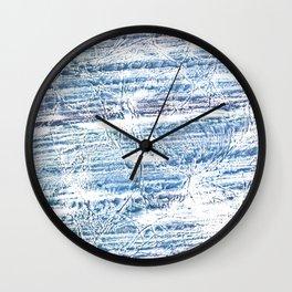 Light blue marble Wall Clock