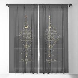 Taurus Zodiac Constellation Sheer Curtain