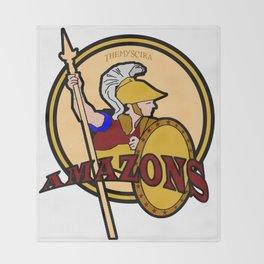 Amazons Sports Team Logo Throw Blanket