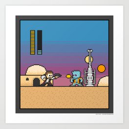 Mega Boss Battles - Han vs. Greedo Art Print