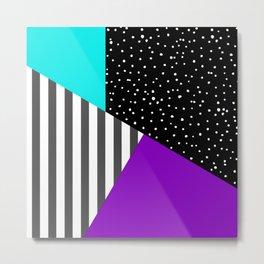 Geometric patchwork 6 Metal Print