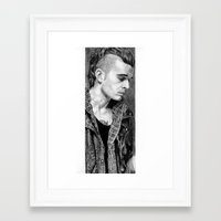 matty healy Framed Art Prints featuring Matty Healy by rachelmbrady_art