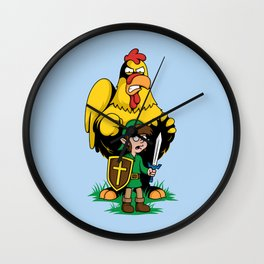 The Legend of Ernie (light background) Wall Clock