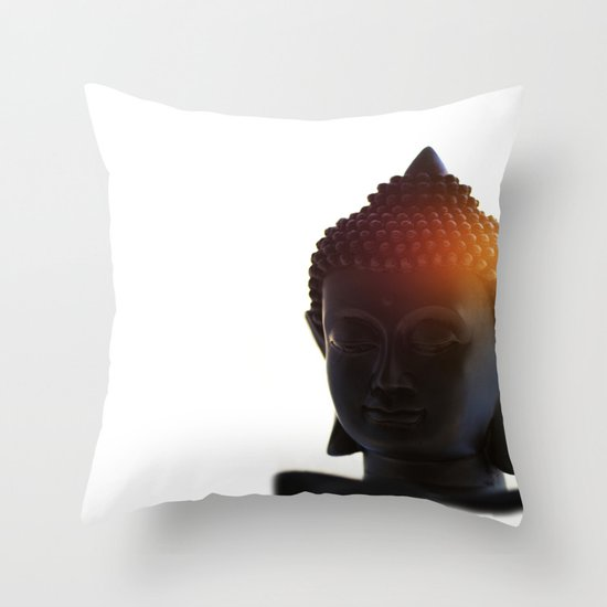 Buddha Lights Throw Pillow