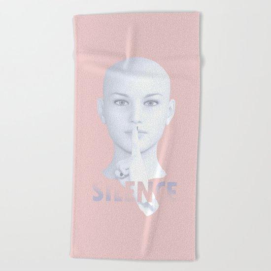 Silence Beach Towel