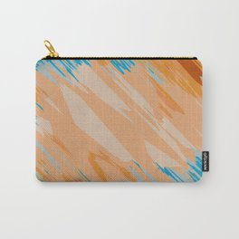 orange brown and blue painting abstract background Carry-All Pouch