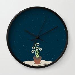 Flowerpot moon Wall Clock