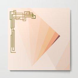 Eleganza 09,peach Metal Print