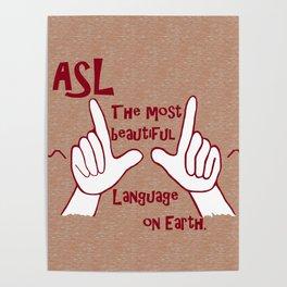 ASL Most Beautiful Language Poster