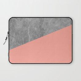 Simply Concrete Dogwood Pink Laptop Sleeve