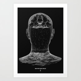 man who never smiled II Art Print